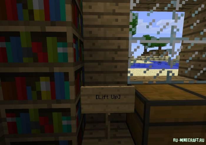 Minecraft как сделать лифт